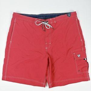 Cremieux Cargo Swim Trunks NWT Red Size XL